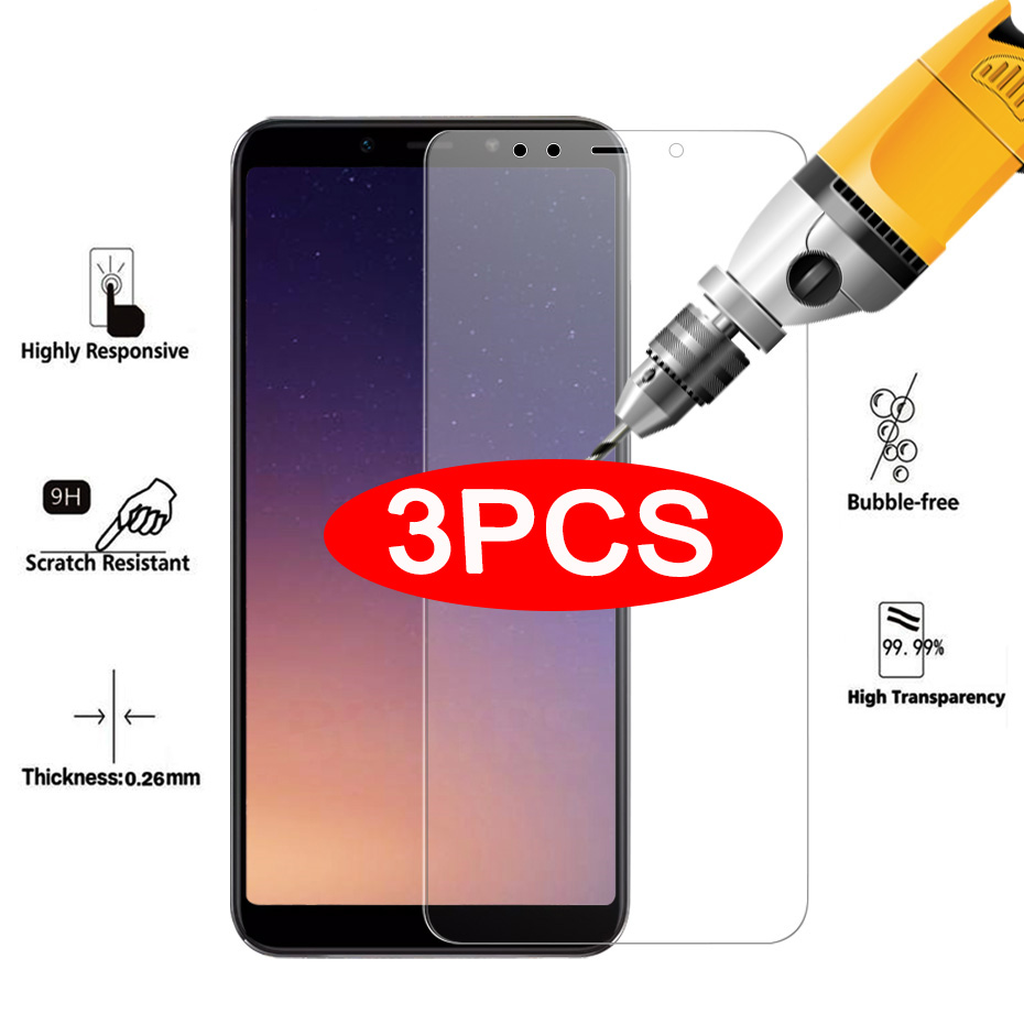3-1Pcs Protective Glass For Xiaomi Mi A2 Lite A2 A1 Screen Protector 9H Anti-Scratch Tempered Glass For Xiaomi MI 8 SE MI 9 Lite