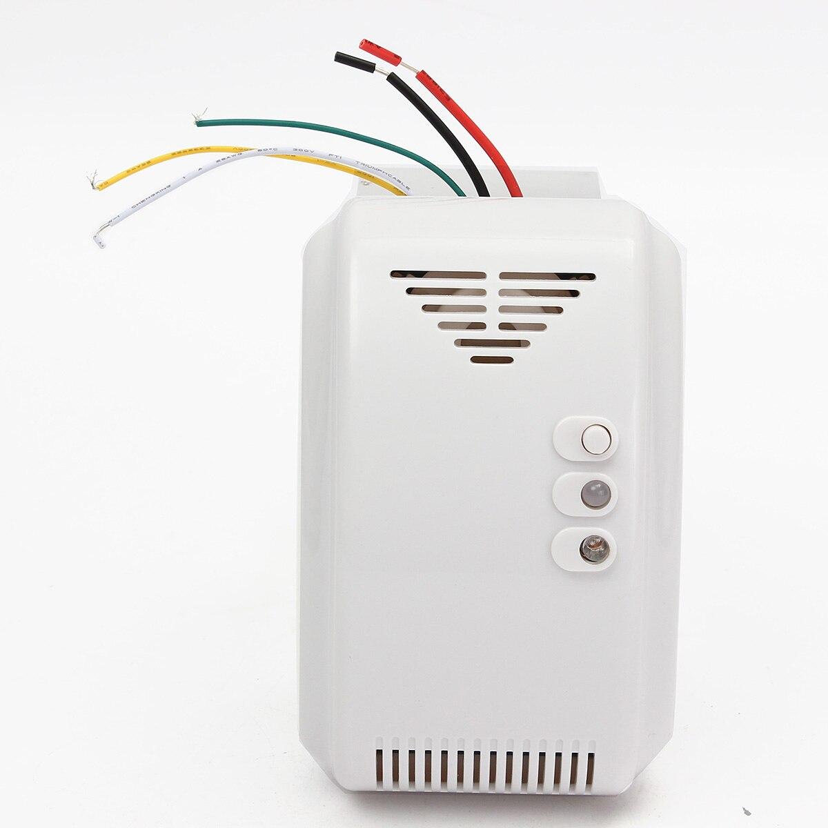 12 V gas sensor detector propano butano LPG naturales autocaravana para sistema de seguridad de alarma