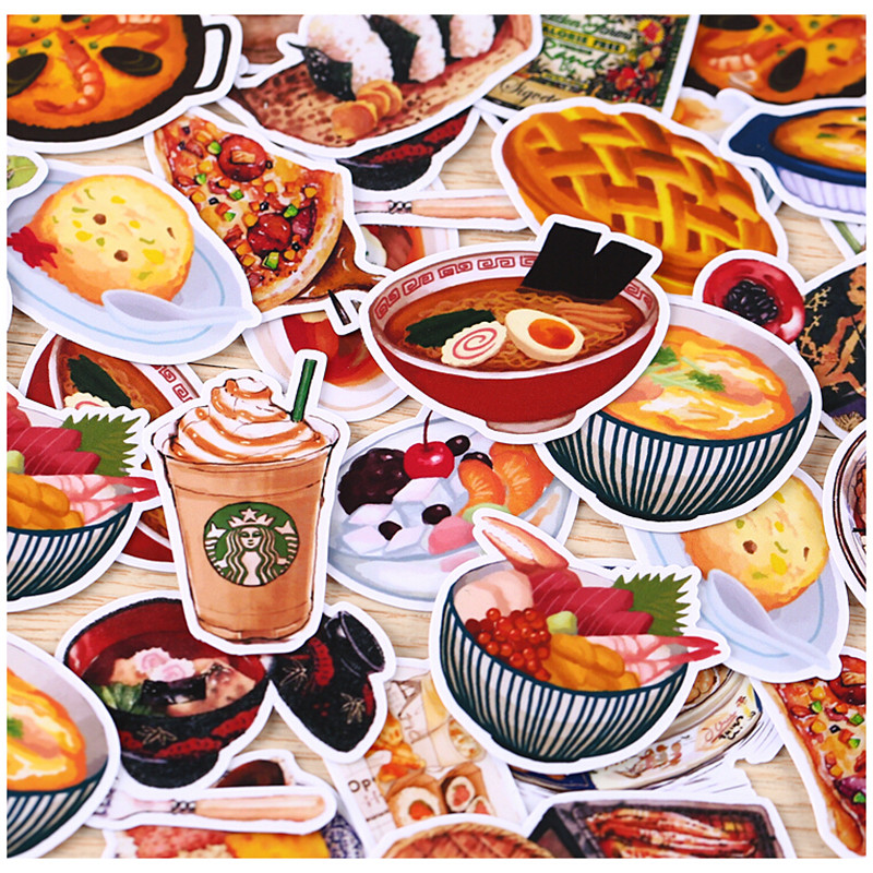 32pcs Creative Cute Self-made Daily Food / Drink Scrapbooking Stickers /decorative Sticker /DIY Craft Photo Albums/trunk Stickes