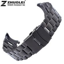 Noir 18 mm 20 mm 22 mm 24 mm noir Bracelet en acier inoxydable Bracelet remplacement Wrist Watch Band livraison gratuite