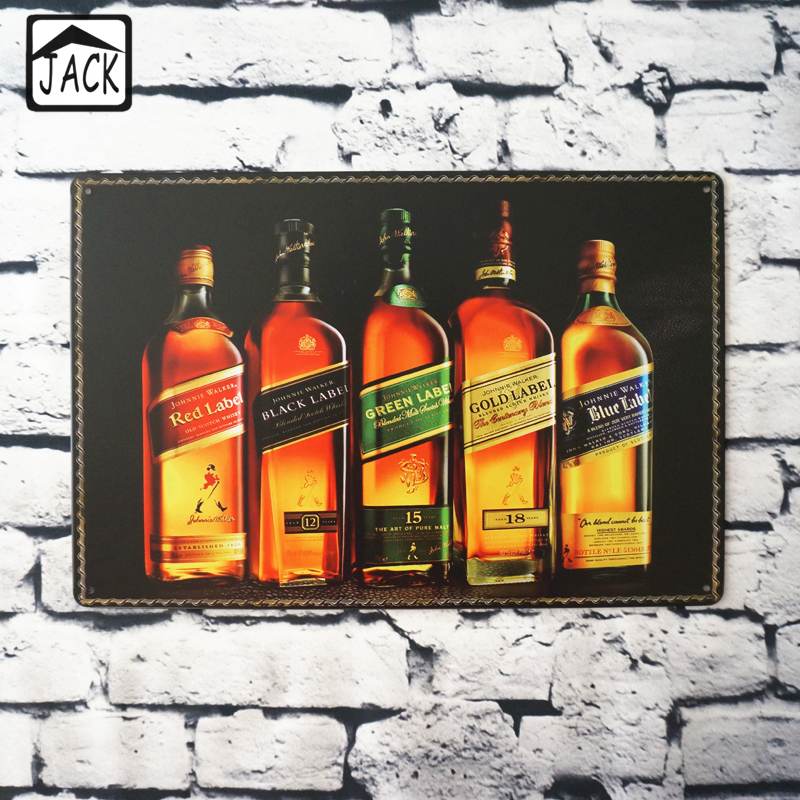 Buy Beer Wine Whisky Advertising Poster 20X30CM Vintage Plate Metal Tin Signs Wall Decor Garage Bar Club Barn Parlor Bedroom Plaques for $7.11 in AliExpress store