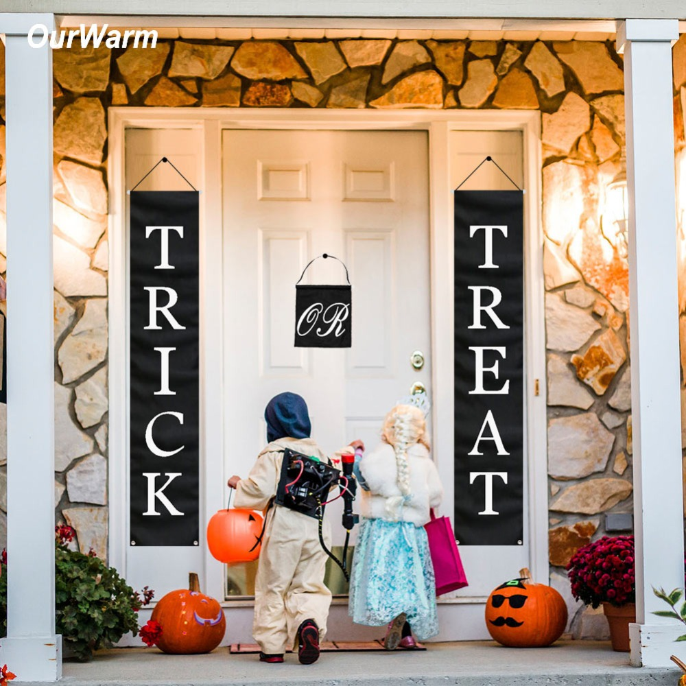Image result for OurWarm 3pcs Trick or Treat Halloween Banner ali express