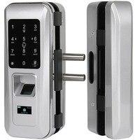 AiCinBel Glass Door Lock Office Keyless Smart Fingerprint Lock Touch Keypad Smart Card Remote Control Intelligent Door Lock