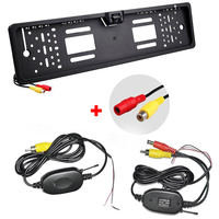 2 4Ghz Wirless Transmitter And Receiver With Rear View Camera Europe License Plate Frame Wireless Rearview