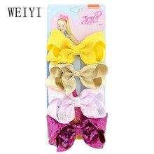 4pcs Baby Headdress Bowknot Hairpin Fashion Handmade Wonderful Workmanship Sequins Beautiful Children Girls 924