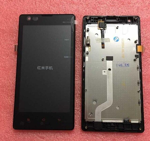 Pantalla lcd display + touch digitalizador wih marco para xiaomi redmi 1 s hongmi 1 s blanco o negro o rosa envío gratis