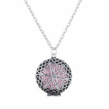 (Necklace+5Pad)/set Newest Antique Aromatherapy Locket Pendants &Necklaces Perfume Essential Oil Locket Women Necklaces