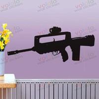 משלוח חינם חומר סיטונאי וקמעוני וול דקור pvc מדבקות קיר מדבקות טפט נשק אקדח c-145