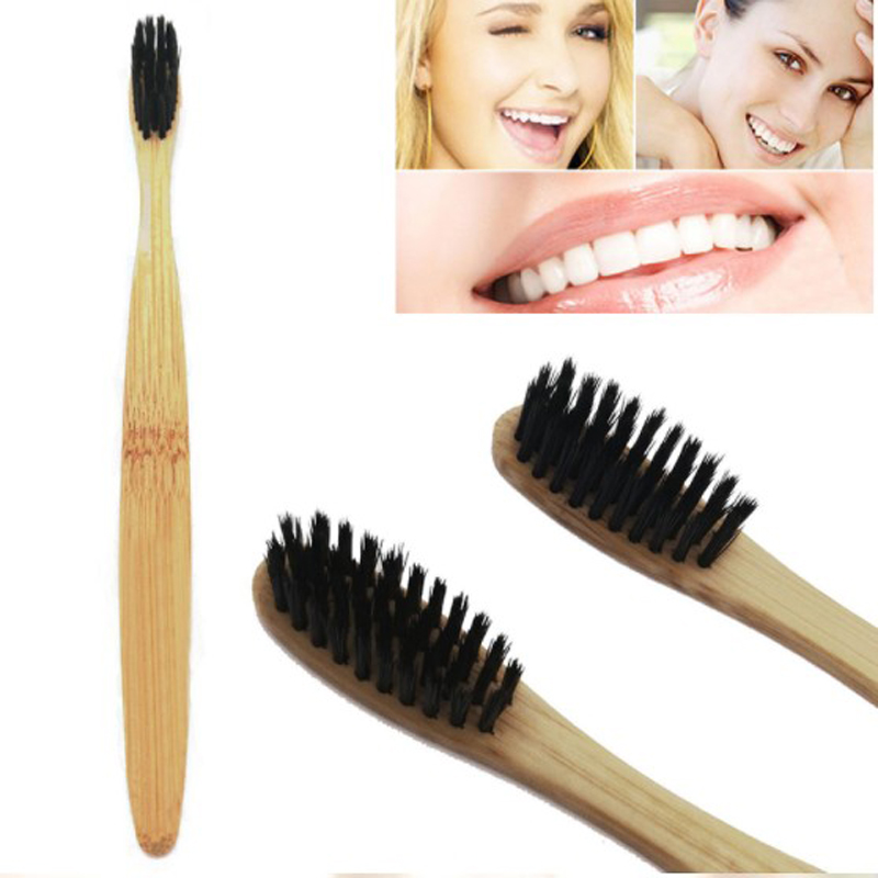 1PC Natural Bamboo Charcoal Tooth Brush Teeth Whitening Powder Whiten For Dental Oral Hygiene Cleaning