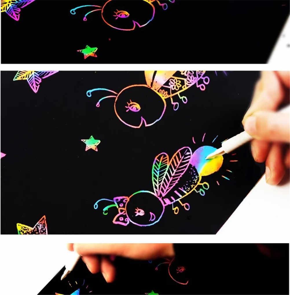 10 Copriletto Colorato Carta per pittura Giocattolo Per Bambini Regalo Magico Giochi di disegno 16K
