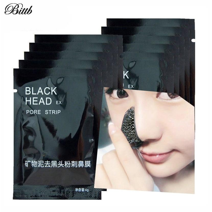 Beyoutiful Black Out Pore Treatment: Bittb 6Pcs Face Skin Care Blackhead Remover Peel Off Black