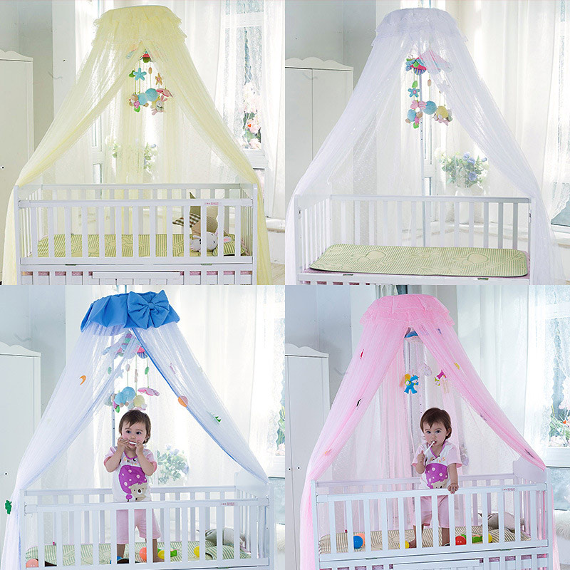 Baby Crib Mosquito Net For Infants Portable Newborn Cot Folding Canopy Boys Girls Summer Netting Portector Children's Bed Wigwam cute baby crib 4pcs portable comfortable babies pad with sealed mosquito net mattress pillow mesh bag newborn sleep travel bed