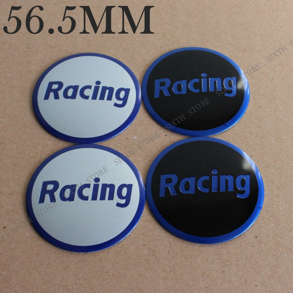 KOM POWER 56.5MM Car-Styling Car Racing Wheel Centre Hubs Caps Racing Letter Sticker Emblems Wheel Covers Cap Sticker Racing Cap
