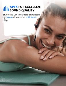 Image 3 - Mpow D9 Bluetooth 5.0 Wireless Headphone 16 18H Playtime ipx7 Waterproof Sports Earphone Support APTX For Android iPhone Samsung
