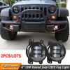 Pair Of 12V 4 4inch Round LED Fog Light For 07 15 Wrangler JK High Power