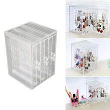 Darmowa wysyłka 200 otwory kolczyki szpilki naszyjnik stojak do wystawiania biżuterii stojak Organizer Holder storage