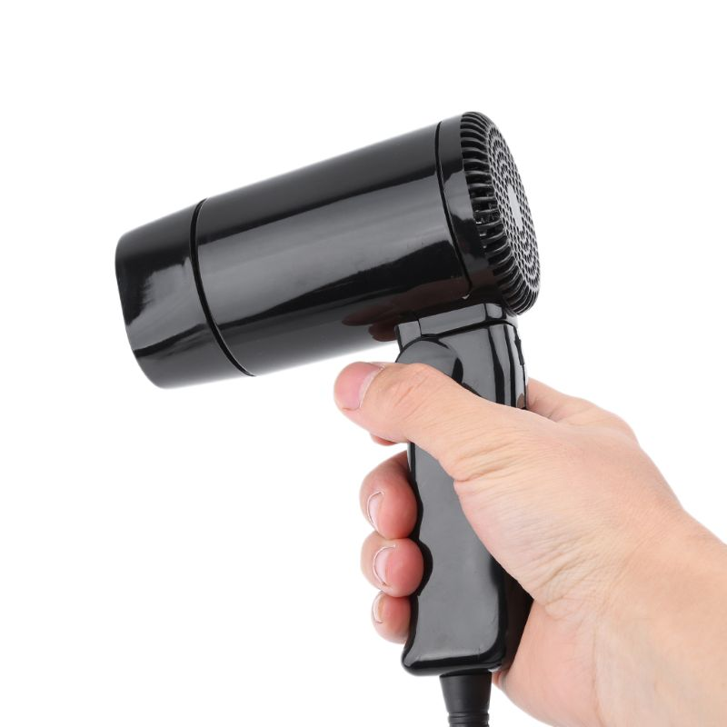 Image 4 - Portable 12V Car styling Hair Dryer Hot & Cold Folding Blower Window Defroster-in Heating & Fans from Automobiles & Motorcycles