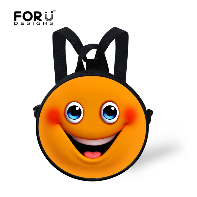 Hot Sale Funny Emoji Children School Bags For GirlsCute Smiley Kids Schoolbags Yellow Mochila Escolar Infantil Kindergarten Bag ...