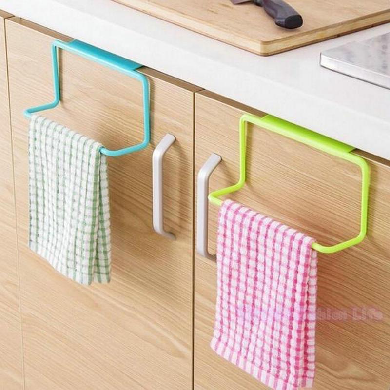Kitchen Supplies Accessories Organizer Towel Rack Hanging Holder Bathroom Cabinet Cupboard Hanger Shelf