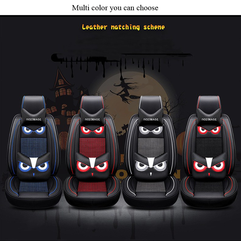 Universal Synthetic Leather Full Set Car Seat Covers 3D Full PU Leather Four Seasons for 5 Seats Vehicle Suitable for Year Round in Automobiles Seat Covers from Automobiles Motorcycles