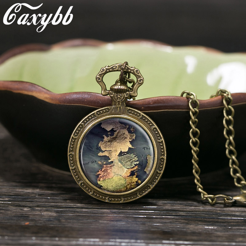 Gaxybb Game of Thrones House map Stark Necklace Pendant Cabochon pendant choker necklace glass dome necklace for men ...