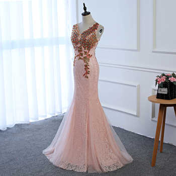 2018 4 Colors Luxury V Neck Long Pink Evening Dress V Neck Cheap Evening Gowns Prom Party Formal Evening Gowns Dresses