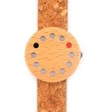 BoboBird Марка 12 Отверстия Дизайн Деревянные Часы Прохладно Причинная Женщина кварцевые Часы Древесины Кожаный Ремешок Древесины как Рождественский Подарок принять OEM