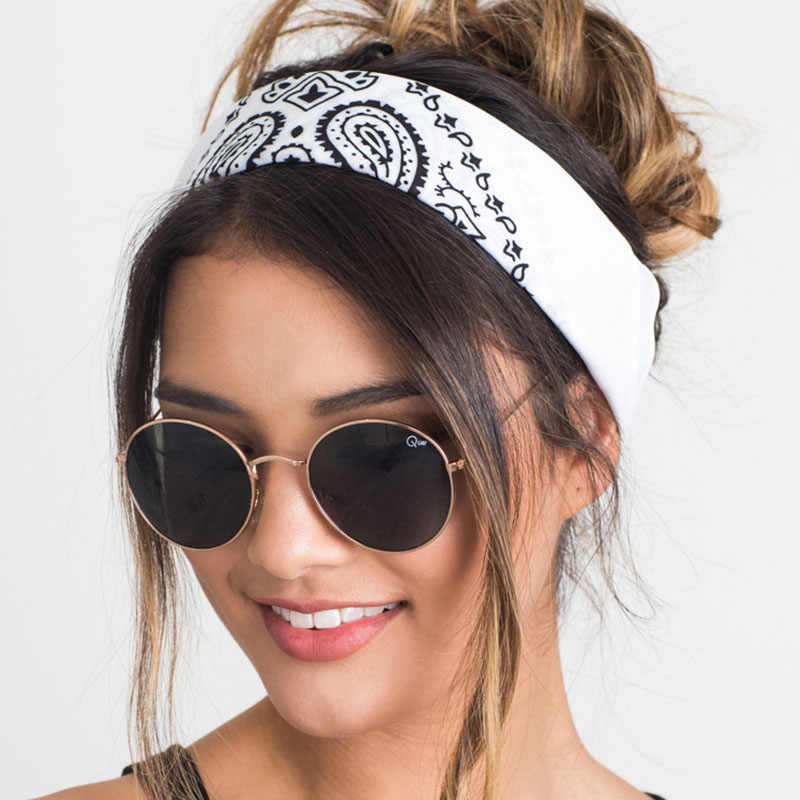New 2019 Korea Style Hair Accessories Women Linen Bandana Scarf Square Female Bandanas Headwear Rock Cool Girls Multi Headbands
