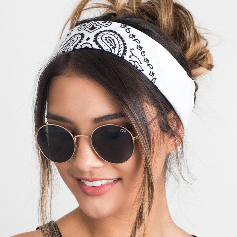 New 2018 Korea Style Hair Accessories Women Linen Bandana Scarf Square Female Bandanas   Headwear   Rock Cool Girls Multi Headbands