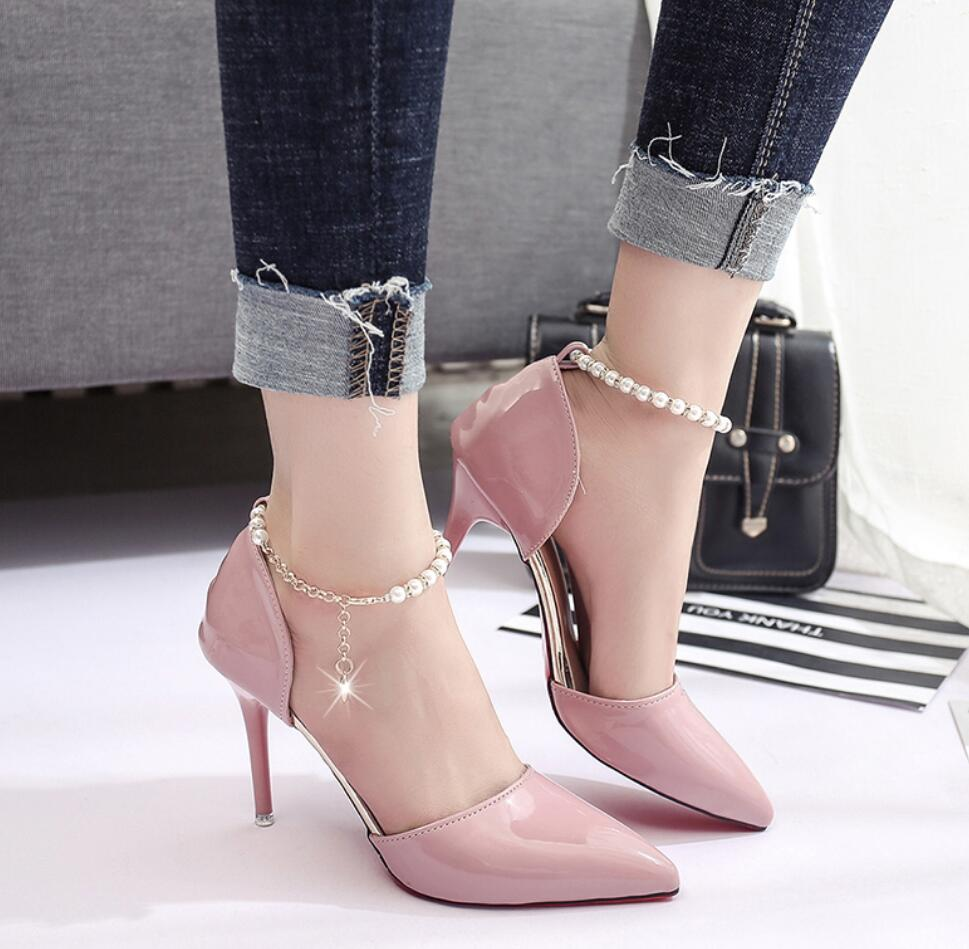2017 new Spring Summer Shoes for Women High Heeled Wedding Pointed toe Fashion Women's Pumps Ladies zapatos mujer high heels 9cm new spring summer women pumps fashion pointed toe high heels shoes woman party wedding ladies shoes leopard pu leather
