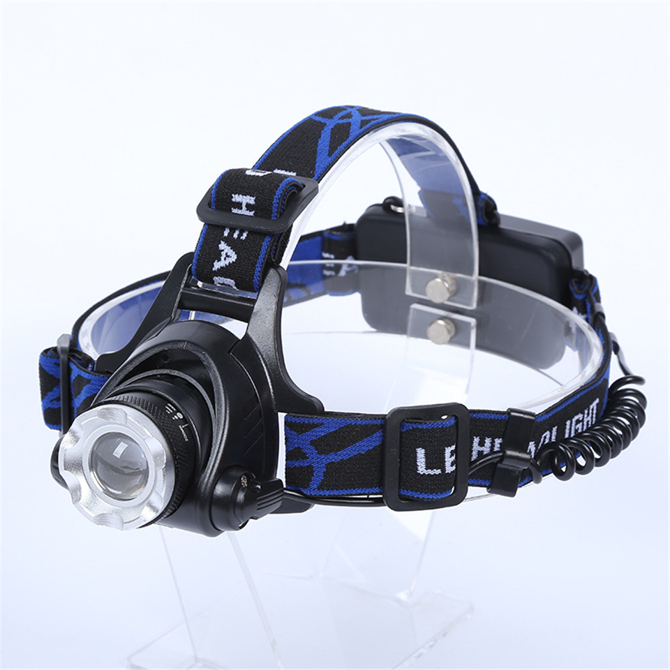 rechargeable 5000 lumen headlamp cree xm l t6 zoomable led. Black Bedroom Furniture Sets. Home Design Ideas