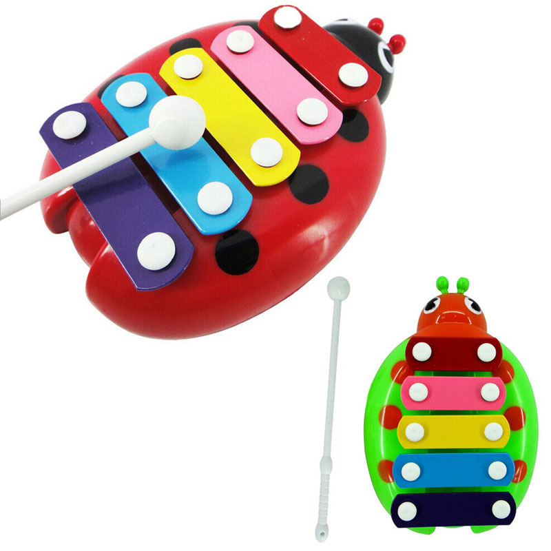 Baby Child Kid 5-Note Xylophone Musical Toys Wisdom Development Beetle AR Toy Dropship