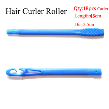 18/20pcs 20/45/55/65cm Plastic Long Diameter 2.5cm Magic Hair Curler Magic Hair Roller Spiral Curls Easy Usage 1