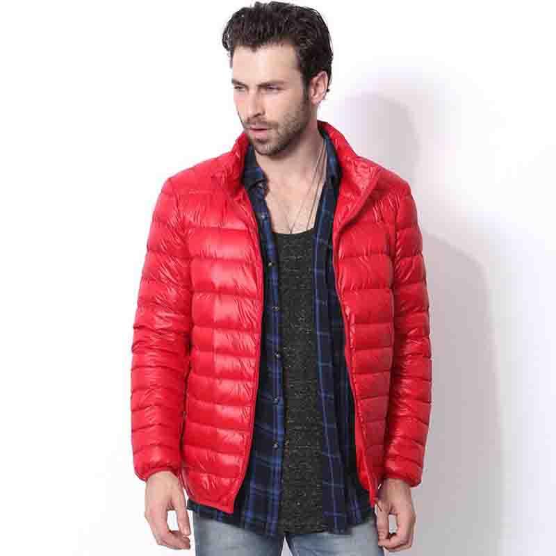 2016 winter jacket men 90 duck down jacket men ultralight down jacket with a hood outdoors - Doudoune Colore