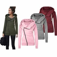 Neue Herbst Frauen Jaket Mantel Beiläufige Lose Reißverschluss OBEN Hoodie Sweatshirt Dünne Trainingsanzug Sweatshirt Plus Größe Vliese Mantel YF149(China)