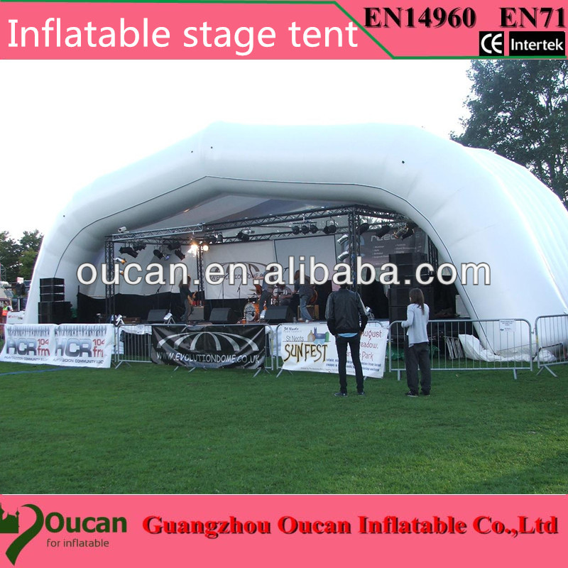 8x4x3.5mwhite and sliver oxford cloth inflatable stage tent , inflatable party tents for events+free shipping 6 8x4x3 4m oxford cloth inflatable stage tent inflatable stage cover inflatable canopy tent for concert with free shipping