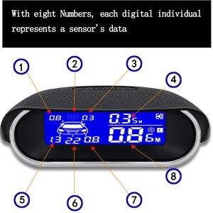Image 2 - Auto Parktronic parkmaster Parking 8 Sensor Reverse Backup Car ultrasonic Parking Reversing Radar System LCD Backlight Display