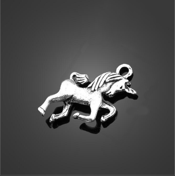20pcs 24*17mm Gold Color Plated Zinc Alloy Unicorn Horse Charms Diy Handmade Jewelry Findings Accessories Wholesale