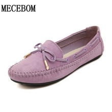 Spring Autumn Women Ballets Flats Bow Boat Shoes Car Shoes Candy Color loafers Shallow Slip on Flat shoes