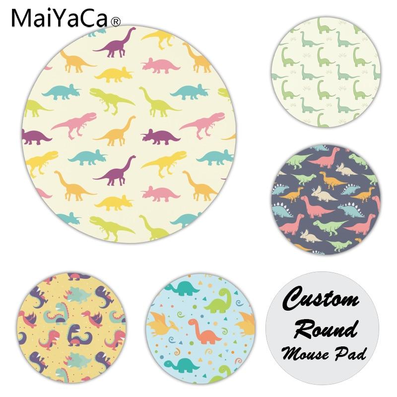 Maiyaca динозавр мультфильм силиконовый коврик, чтобы Мышь игры Размеры для 20x20 см Скорость версия круглый Мышь колодки
