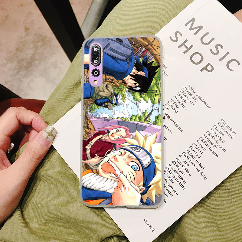 Silicone Case Anime Uzumaki Naruto for Huawei P Smart 2019 Plus P30 P20 P10 P9 P8 Lite Mate 20 10 Pro Lite Nova 3i Cover in Fitted Cases from Cellphones Telecommunications