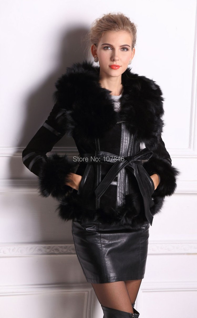 Col Survêtement Picture Fourrure Vk2264 Réel Renard De Hiver Manteau Automne Manches Femmes Manteaux Et as Veste Vêtement Véritable As En Cuir Lady Picture nk80OPwX