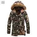 Bomber Jacket New 2017 Winter Jacket Fur Collar Men'S Down Jacket Cotton-padded Coat Thickening Jacket Parka Men Manteau Homme