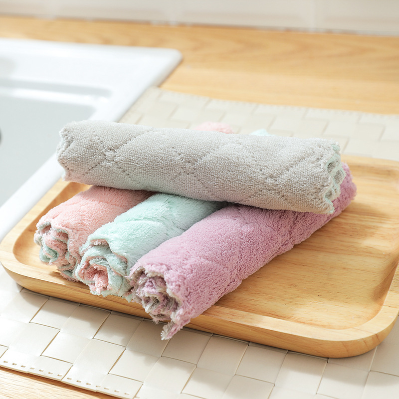 1pc Super Absorbent Microfiber kitchen dish Cloth High-efficiency tableware Household Cleaning Towel kichen tools gadgets