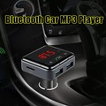 New Bluetooth Handsfree CarKit Bluetooth FM Transmitter MP3 Player Car Kit Charger For Smart Phone