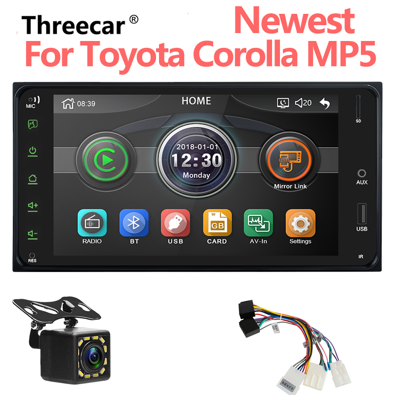 2 DIn Autoradio 2 Din Car Radio 7'' HD Touch Screen Car MP5 Player Android/Iphone Mirror Link For Toyota Corolla Audio Player