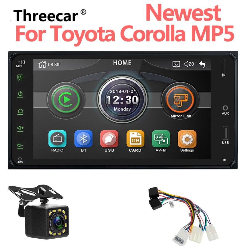 Autoradio 2 DIn 2 Autoradio 7 ''HD écran tactile lecteur MP5 Android/Iphone lien miroir pour lecteur Audio Toyota Corolla