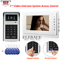 New Arrival Video Door Intercom Video Door Phone System With Access Control Keypad Password ID Card Unlock + 5 Keyfobs