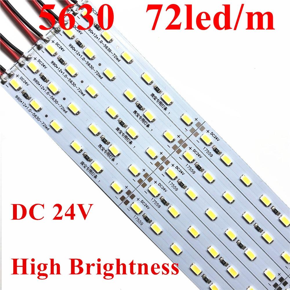 20pcs 0.5M 7020 Led Bar 36 SMD AL Rigid Hard Strip White Warm Light 12V DC
