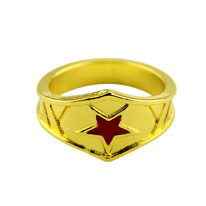 New Wonder Woman Fashion Ring Girl s Fantastic Gold Color Four Retro Style Ring Engagement Wedding